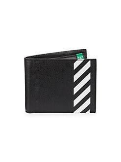 c2c91fa3af505 Diagonal Graphic Leather Billfold Wallet BLACK WHITE. QUICK VIEW. Product  image