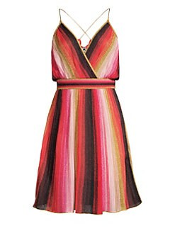37363fe00f M Missoni - Metallic Stripe Sleeveless A-Line Dress