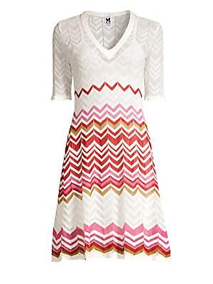 9d273b017d M Missoni - Abito Leopard Print Lurex Midi Dress - saks.com
