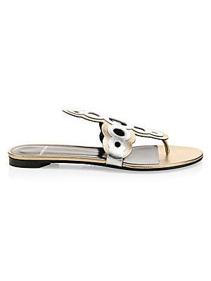 f30eca1fdd31d Pierre Hardy - Saloni Leather Thong Sandal