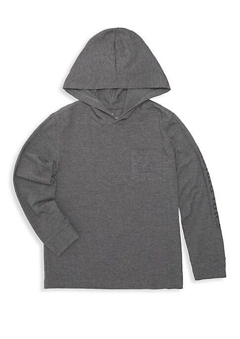 Little Boys  Boys Edgar Town Hooded LongSleeve Shirt