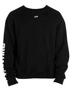 78c7ffe5515e Off-White. Diagonal Skulls Cotton Sweatshirt