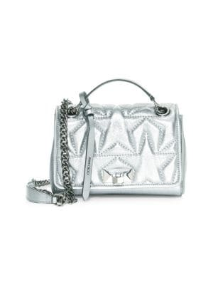 Jimmy Choo Bags Small Helia Metallic Star Top Handle Bag