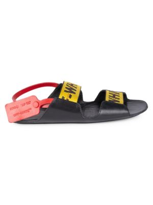 OFF-WHITE Leather Zip-Tie Sandals