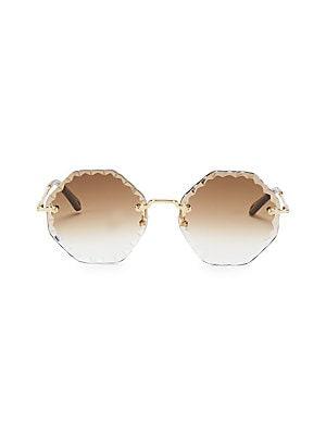 fbf1fc05cc2e Chloé - Rosie Round Scalloped Sunglasses - saks.com