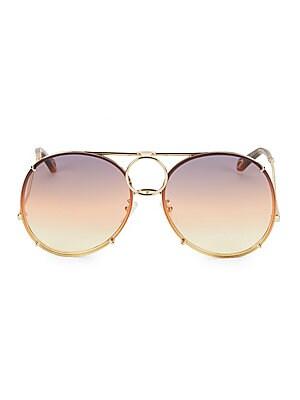 b2075a699f6 Chloé - Vicky Interchangeable 61MM Aviator Sunglasses