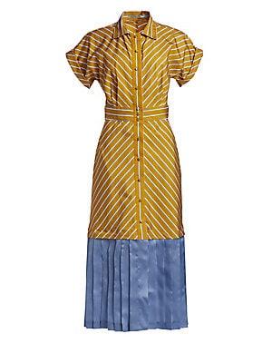 0ea7c6a36a756 Silvia Tcherassi - Sauco Cotton Silk Shirt Dress - saks.com