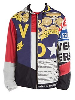 a03b05c88d49 QUICK VIEW. Versace. Printed Zip-Up Hooded Jacket