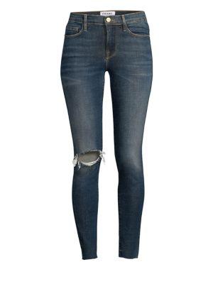 Le Skinny De Jeanne Raw Hem Cropped Skinny Jeans by Frame
