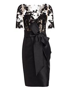 52c6c682 Lace Sleeve Sheath Cocktail Dress BLACK. QUICK VIEW. Product image. QUICK  VIEW. Badgley Mischka
