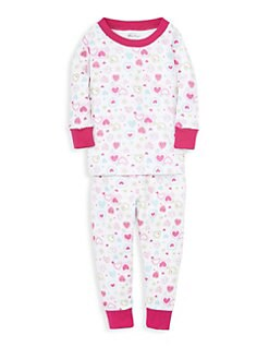 Kissy Kissy. Little Girl s Two-Piece Heart Pajama Set edea97414