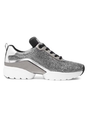 Jada Crystal Trainer Sneakers in Black Silver