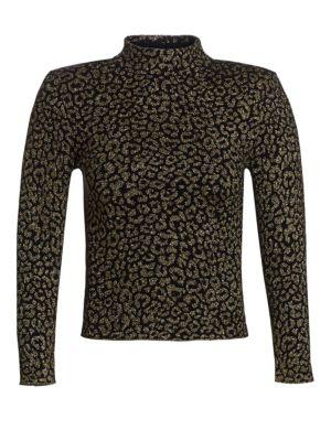 A.l.c Maeve Metallic Leopard Print Top