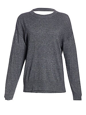 "Image of Classic oversized sweater in a rich cashmere blend construction with ribbed textures. Crewneck Long sleeves Pullover style Ribbed trim Viscose/nylon/cotton/wool/cashmere Dry clean Imported SIZE & FIT Oversized About 26.5"" from shoulder to hem Model shown"