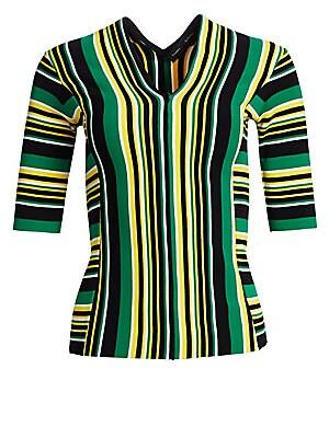 193966a1d9ff9f Proenza Schouler - Stripe Cold-Shoulder Cotton Top - saks.com