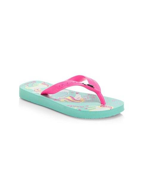 Girl's Unicorn Flip Flops
