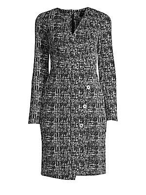 776ce40b Donna Karan New York - Faux Wrap Tweed Sheath Dress - saks.com