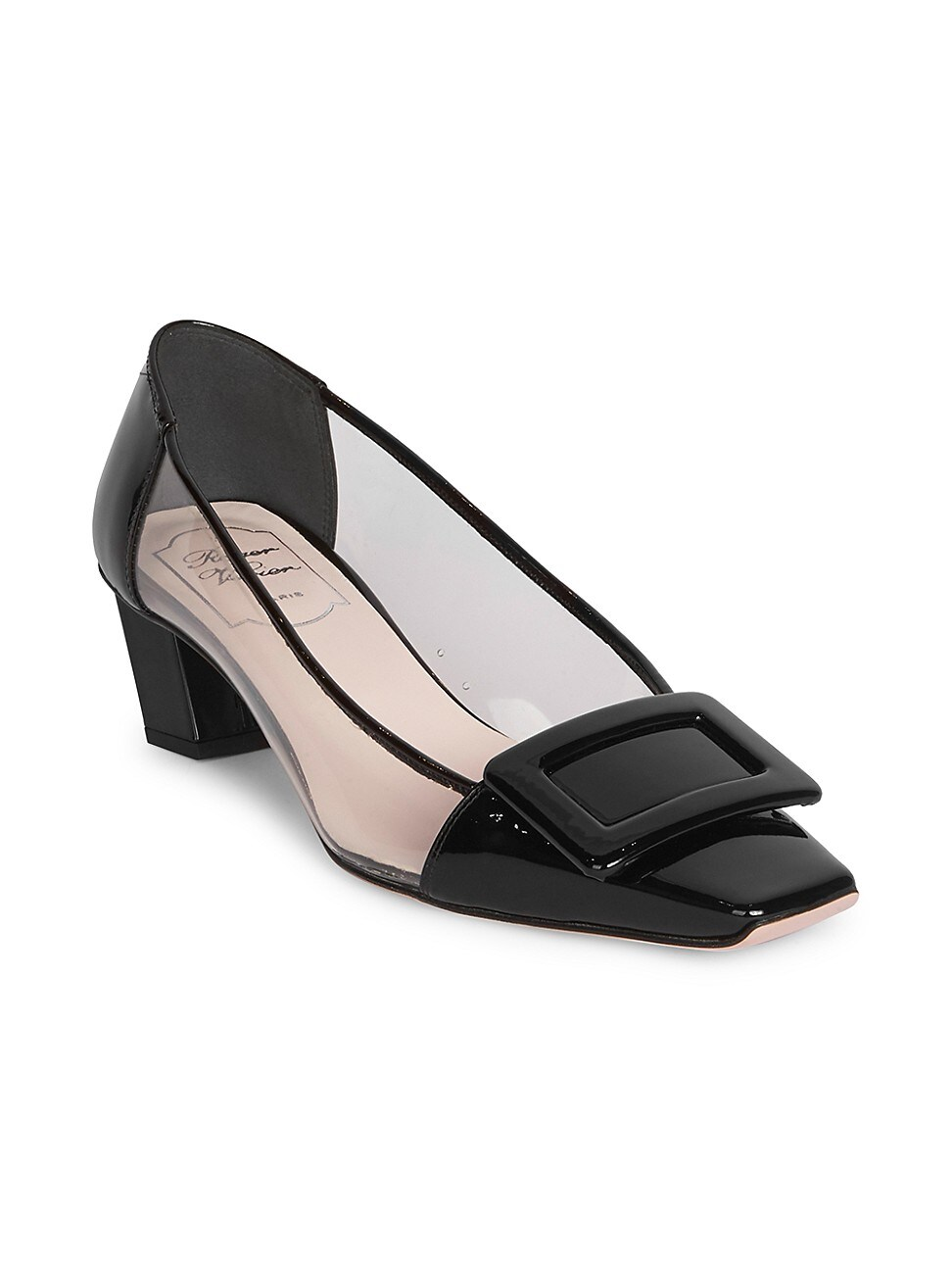 Roger Vivier WOMEN'S BELLE VIVIER PVC & PATENT LEATHER PUMPS