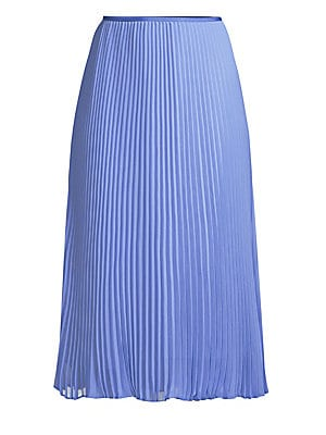 Pleated Midi Skirt by Polo Ralph Lauren