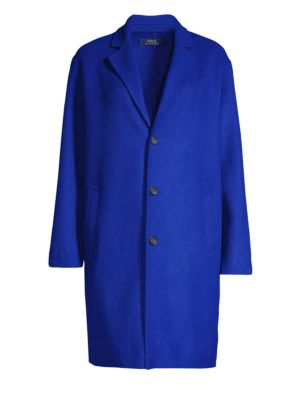 Wool Blend Top Coat in Sapphire Star