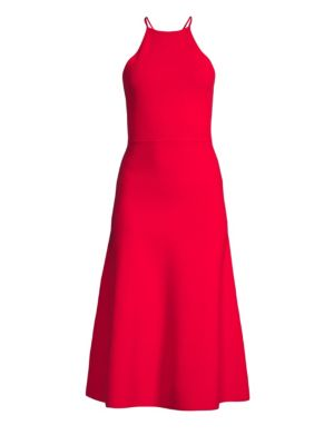 Sleeveless Halter A Line Dress by Polo Ralph Lauren