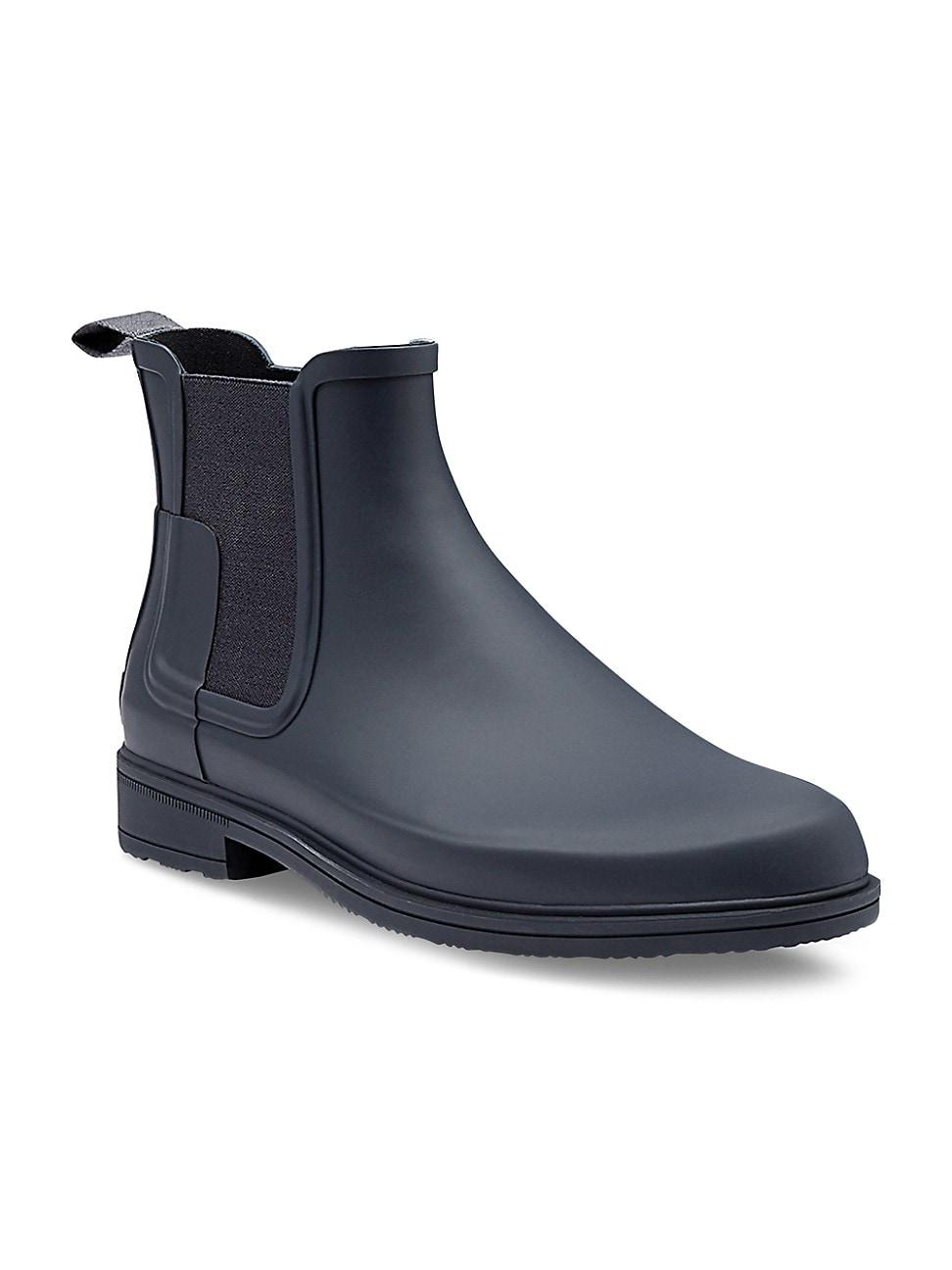 Hunter Men's Original Refined Chelsea Rain Boots In Navy