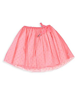 Image of A must-have in her closet, this tulle skirt with allover print features sparkling details on the self-tie waistband. Elasticized drawstring waistband Gem embellishments Pull-on style Polyester Machine wash Imported. Children's Wear - Contemporary Children