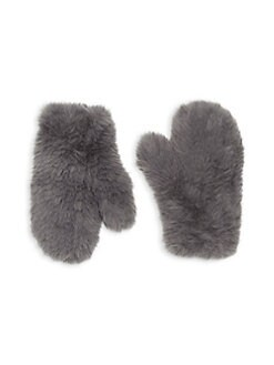 8fc829b5ae05b QUICK VIEW. Glamourpuss. Signature Knitted Faux Fur Mittens