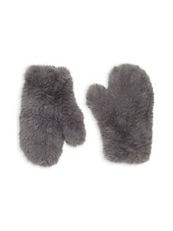f075c9146d8 Signature Knitted Faux Fur Mittens PEWTER. QUICK VIEW. Product image