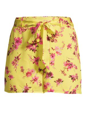 Cami Nyc The Cluda Floral Silk Georgette Shorts