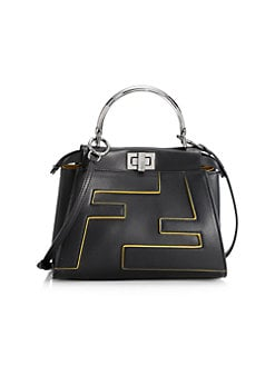 fdd185499b3 QUICK VIEW. Fendi. Mini Peekaboo Leather Bag