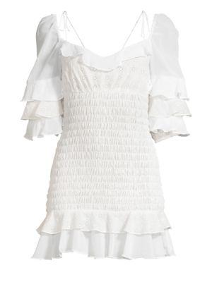 Bora Bora Ruffled Mini Dress by For Love & Lemons