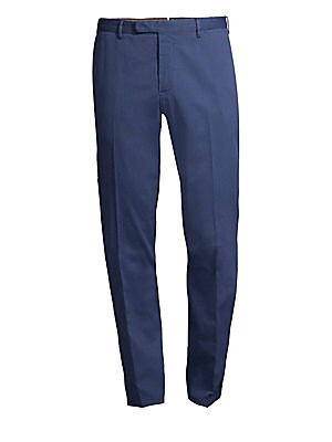 "Image of A delicate striped weave elevates these stretch cotton pants. Belt loops Zip fly with hook-and-eye closure Side slash pockets Back welt pockets Cotton/elastane Dry clean Made in Italy SIZE & FIT Rise, about 10"" Inseam, about 34"" Leg opening, about 14"". Me"