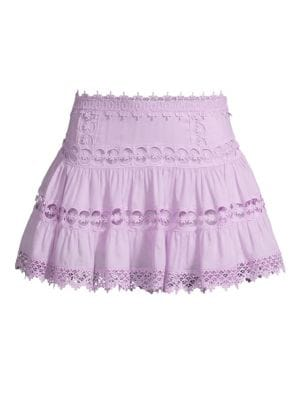 Charo Ruiz Greta Crochet Lace Mini Skirt
