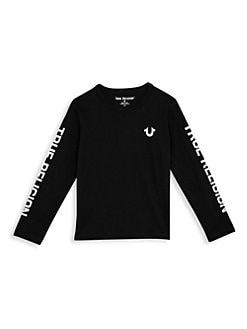c2a80e68e4 QUICK VIEW. True Religion. Little Boy s   Boy s Long Sleeve Logo Tee