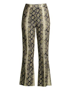 We11 Done Python Cropped Flare Pants
