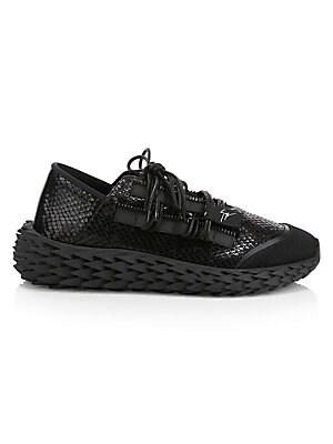 48b2a7c7974750 Giuseppe Zanotti - Urchin Textured Patent Leather Sneakers