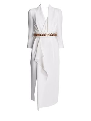 Belted Wrap Silk Dress by Ralph And Russo