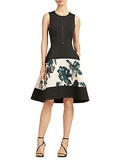 Donna Karan New York Fl Bell Dress