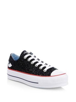 Converse x Chiara Ferragni All Star Low Top Glitter Sneakers