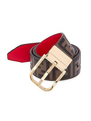 ba91fd7fe7b3 Fendi - FF Embossed Reversible Leather Belt