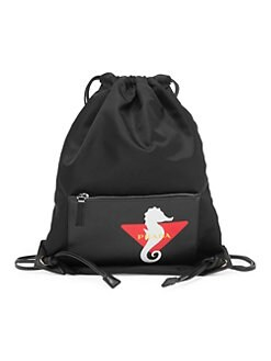 f3a922974f8 Prada. Logo Graphic Drawstring Backpack