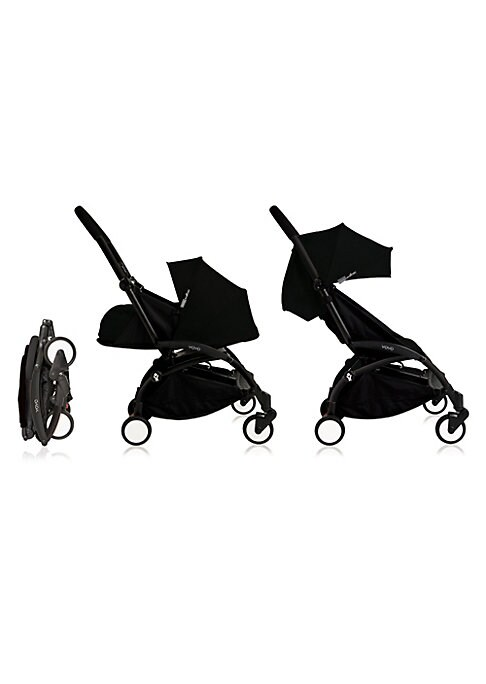 Image of From the Yoyo+ Collection. Portable baby stroller made to bring your little one everywhere.4-wheel suspension. One-hand folding, unfolding and driving. Removable and entirely washable fabric. Extremely compact when folded and can be brought on-board a pla