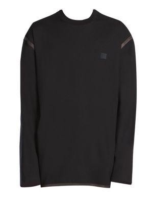 2ba6fbec Acne Studios Ferke Face Patch Contrast Sleeve Sweatshirt. Essential crewneck  ...