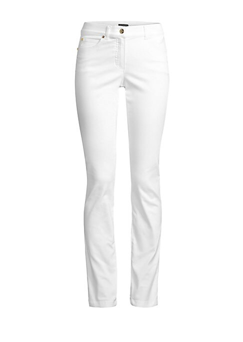Image of Crafted in a versatile stretch cotton blend, these jeggings are an easy-to-wear option that work for drinks or casual off-duty looks. Belt loops. Zip fly. Five-pocket style. Straight leg. Cotton/polyester/elastane. Machine wash. Imported. SIZE & FIT. Rise