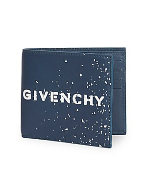 5ca6ef3214d Givenchy - Graffiti Logo Leather Bi-Fold Wallet