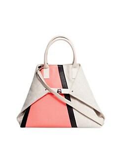 a24a7ec30e Akris - AI Medium Colorblock Top Handle Bag
