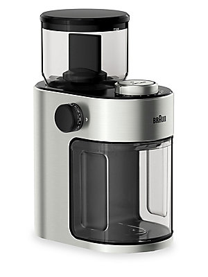Image of ONLY AT SAKS.COM. With the Braun FreshSet burr coffee grinder, your coffee experience starts here. The perfect cup of coffee is crafted before it ever brews. It begins with fresh, evenly ground beans, personal preference, and an enticing aroma. Braun has