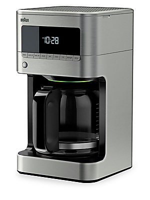 Image of ONLY AT SAKS.COM. Once the aroma of fresh-brewed coffee fills the kitchen, a cup of goodness awaits with the Braun BrewSense 12-cup drip coffee maker. The PureFlavor system brews your coffee at exactly the right temperature and brewing time to extract the