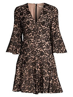 f3fc4c6ff25 QUICK VIEW. Michael Kors Collection. Bell-Sleeve Lace Dress